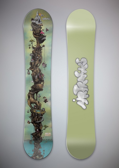 d7aa25fd1b7d7b7338f4610b63d30915 500x707 50 Beautiful Examples of Snowboard Designs