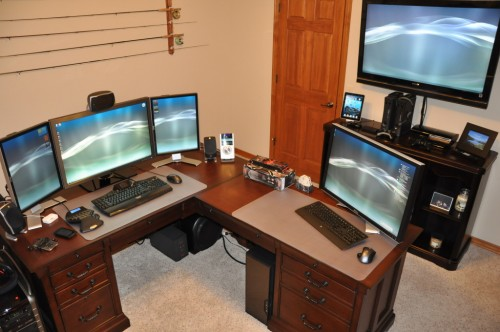 dream office 11 500x332 15 Envious Home Computer Setups
