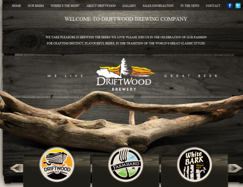 driftwoodbeer 500x386 31 Creative Beer Based Websites