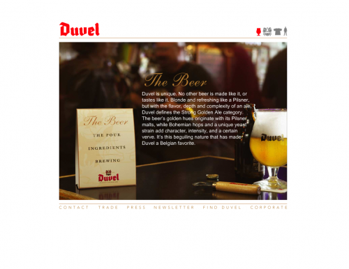 duvelusa 500x386 31 Creative Beer Based Websites