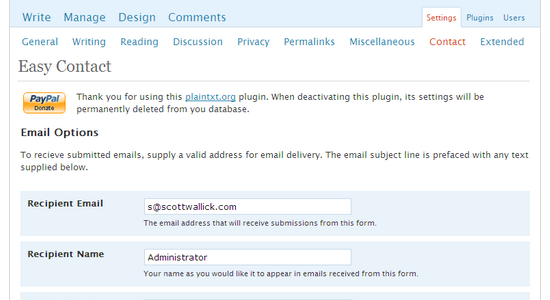 easy contact Top 10 WordPress Contact Form Plugins