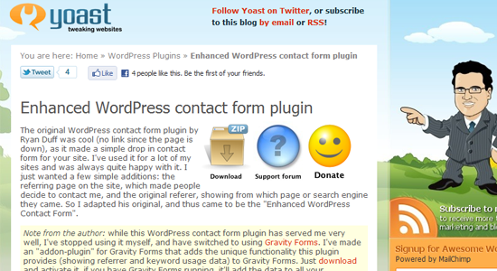 enhanced wordpress contactform Top 10 WordPress Contact Form Plugins