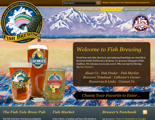 fishbrewing 500x386 31 Creative Beer Based Websites
