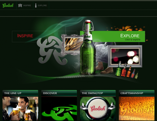 grolsch 500x386 31 Creative Beer Based Websites
