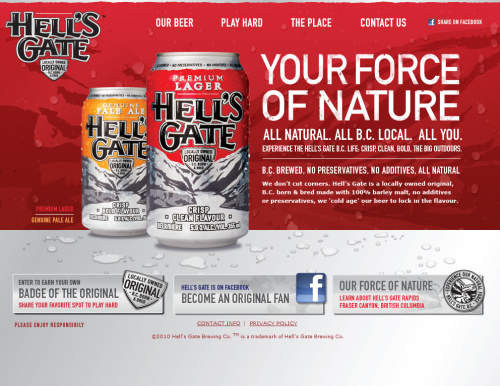 hellsgatebrewing 500x386 31 Creative Beer Based Websites