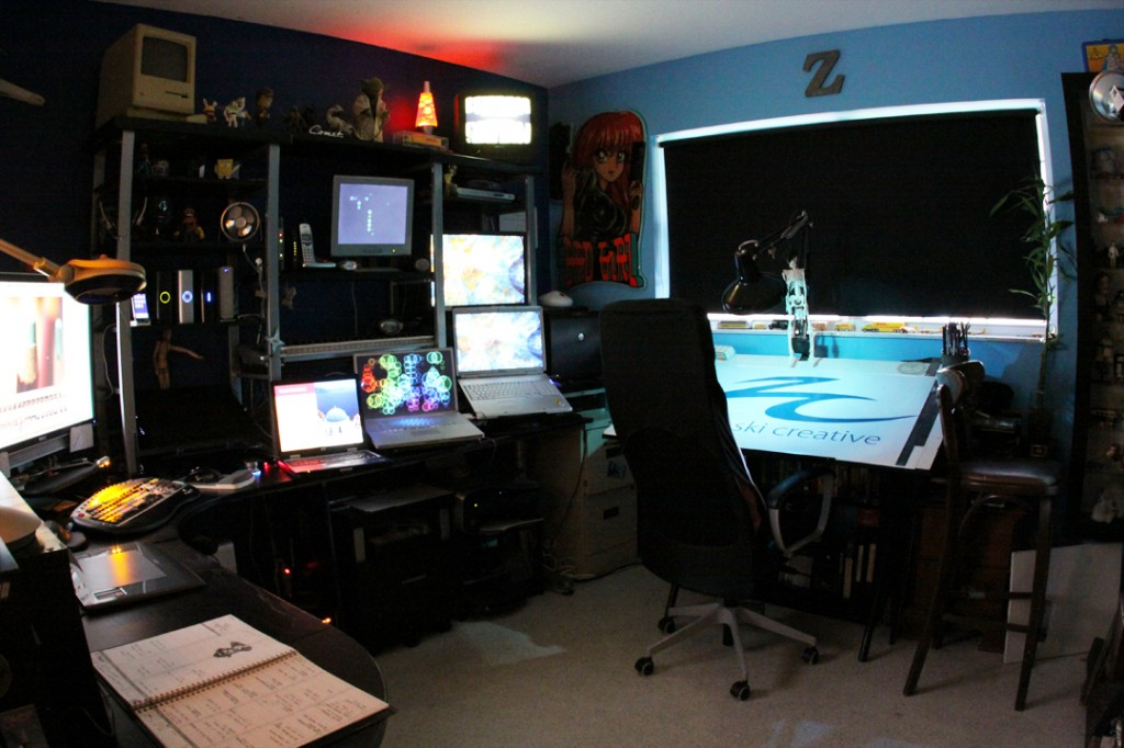 15 envious home computer setups inspirationfeed for Studio home designs