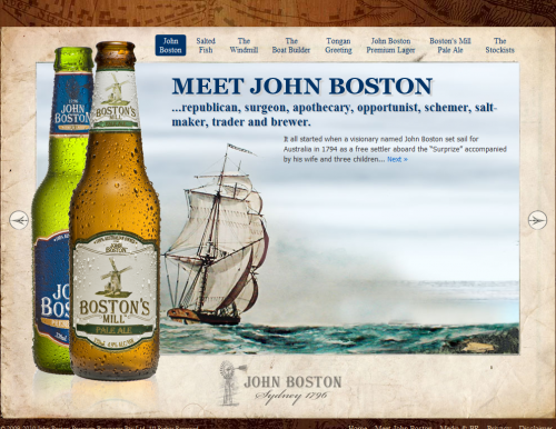 johnboston 500x386 31 Creative Beer Based Websites