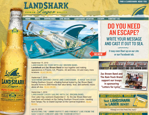 landsharklager 500x386 31 Creative Beer Based Websites