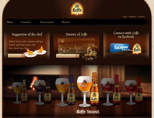 leffe 500x386 31 Creative Beer Based Websites