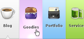 pixelresort11 55 Wonderful CSS Navigation Menu Designs