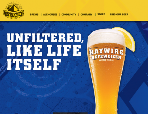 pyramidbrew 500x386 31 Creative Beer Based Websites