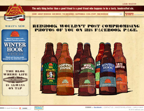 redhook 500x386 31 Creative Beer Based Websites