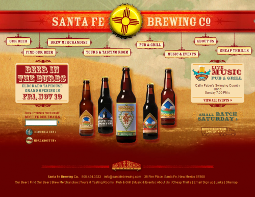 santafebrewing 500x386 31 Creative Beer Based Websites