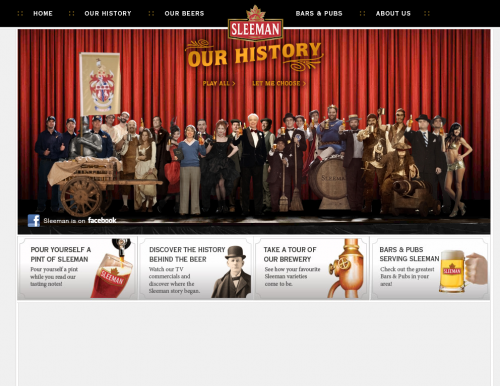 sleeman 500x386 31 Creative Beer Based Websites