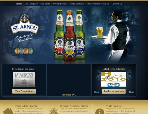 st arnou 500x386 31 Creative Beer Based Websites