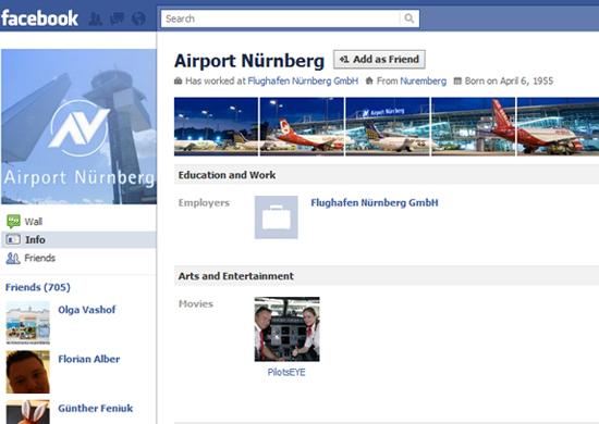 Airport Nürnberg 25+ Examples of New Creative Facebook Profile Pages