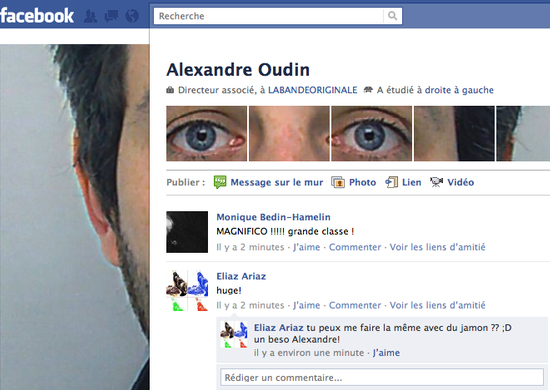 Alexandre Oudin 25+ Examples of New Creative Facebook Profile Pages