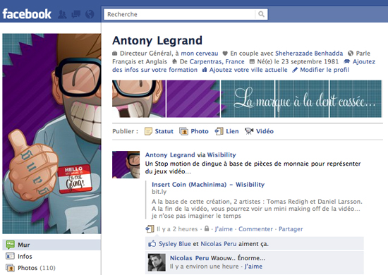 Antony Legrand 25+ Examples of New Creative Facebook Profile Pages