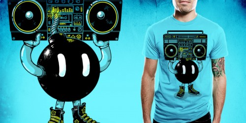 BOOMBOX emptees1 500x250 45 Amazingly Creative T Shirt Designs