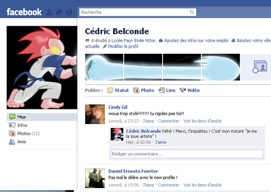 Cedric Belconde 25+ Examples of New Creative Facebook Profile Pages