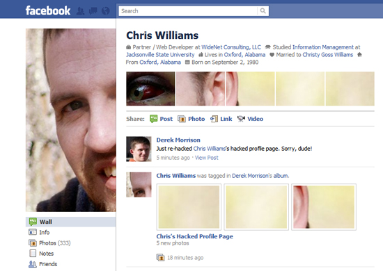 Chris Williams 25+ Examples of New Creative Facebook Profile Pages