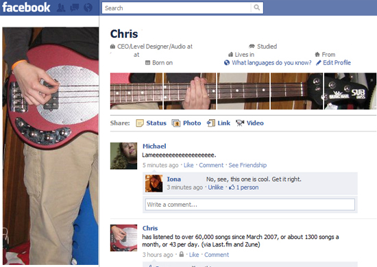 Chris 25+ Examples of New Creative Facebook Profile Pages