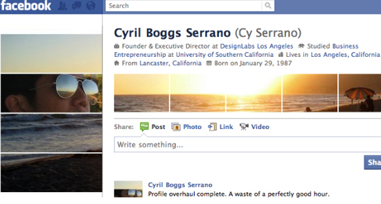 Cyril Boggs Serrano 25+ Examples of New Creative Facebook Profile Pages