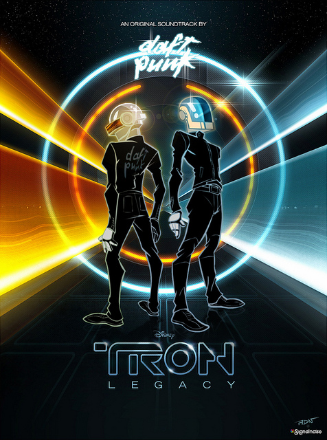 Daft Punk x Tron Legacy   v2 by ADN z1 20 Outstanding Tron Legacy Fan Artworks