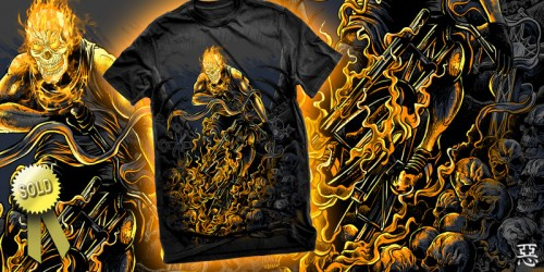 GHOST RIDER1 500x250 45 Amazingly Creative T Shirt Designs
