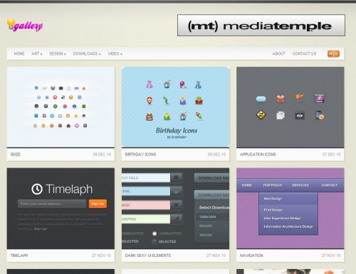 Inspiration Gallery 500x386 Top 35 CSS Galleries For Web Design Inspiration
