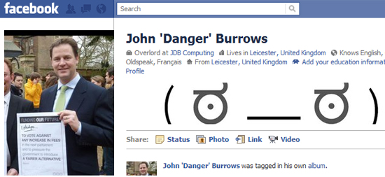 John Danger Burrows 25+ Examples of New Creative Facebook Profile Pages
