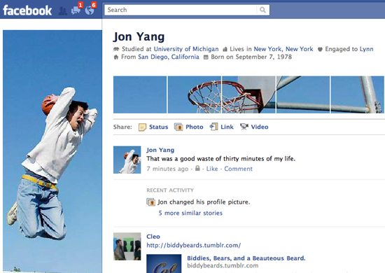 Jon Yang 25+ Examples of New Creative Facebook Profile Pages