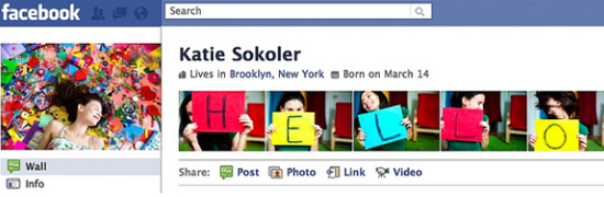 Katie Sokoer 25+ Examples of New Creative Facebook Profile Pages