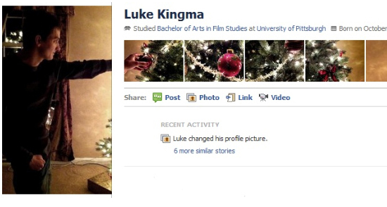 Luke Kingma 25+ Examples of New Creative Facebook Profile Pages