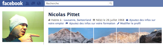 Nicolas Pittet 25+ Examples of New Creative Facebook Profile Pages