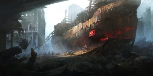 Post Apocalyptic Bikers base by PeteAmachree1 500x248 45 Impressive Apocalyptic Artworks