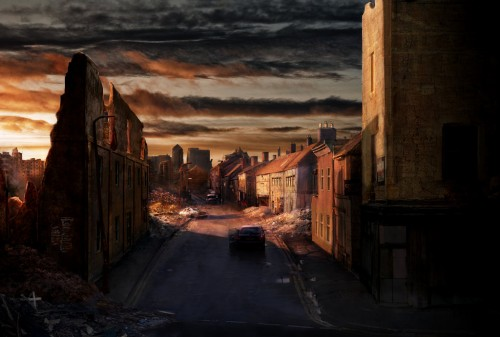Post Apocalyptic England town by indie rec1 500x337 45 Impressive Apocalyptic Artworks
