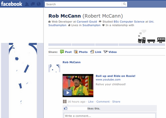 Rob McCann 25+ Examples of New Creative Facebook Profile Pages