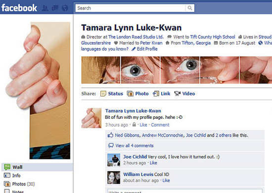 Tamara Lynn Luke Kwan 25+ Examples of New Creative Facebook Profile Pages