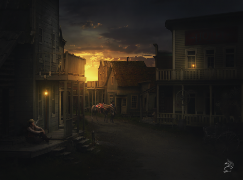 WildWest by Drake10241 500x371 50 Stunning Examples of Photo Manipulation