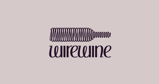 Wire Wine l1 40 Amazing Wine Based Logo Designs