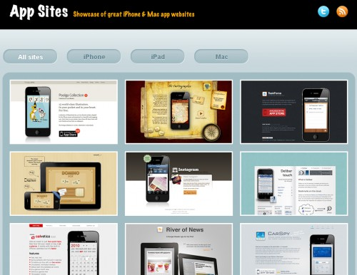 appsites 500x386 Top 35 CSS Galleries For Web Design Inspiration
