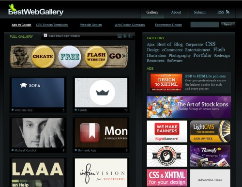 bestwebgallery 500x386 Top 35 CSS Galleries For Web Design Inspiration