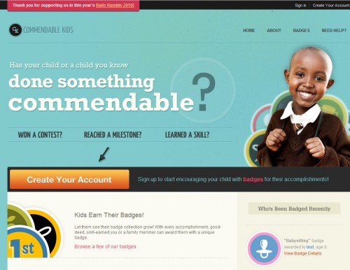 commendablekids 500x386 40 Quality Websites with Circular Logos
