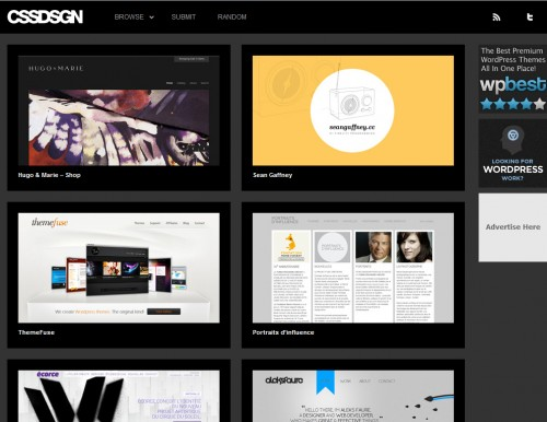 cssdsgn 500x386 Top 35 CSS Galleries For Web Design Inspiration