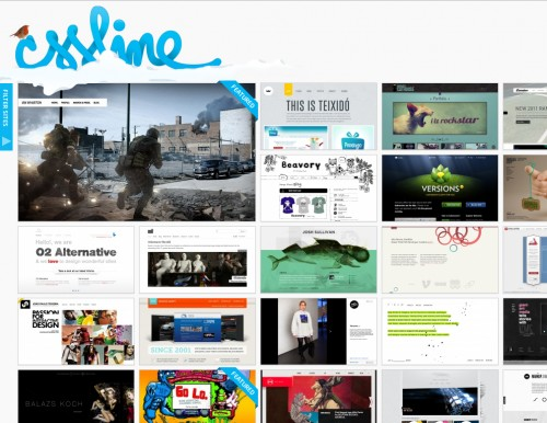 cssline 500x386 Top 35 CSS Galleries For Web Design Inspiration