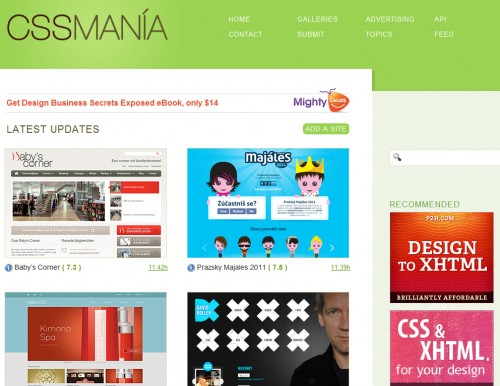 cssmania 500x386 Top 35 CSS Galleries For Web Design Inspiration