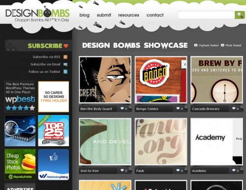 designbombs 500x386 Top 35 CSS Galleries For Web Design Inspiration