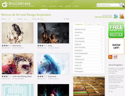 designflavr 500x386 Top 35 CSS Galleries For Web Design Inspiration