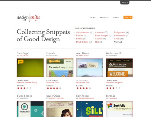 designsnips 500x386 Top 35 CSS Galleries For Web Design Inspiration
